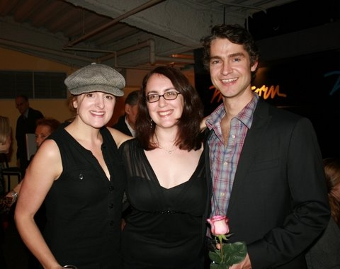 Keira Naughton, Rachel Reiner and Scott Barrow at Opening Night Of EMBRACEABLE ME