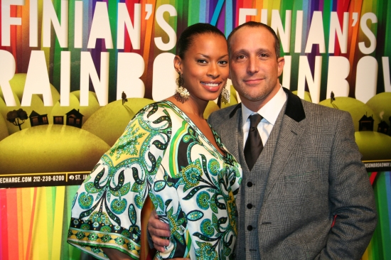 Kearran Giovanni and Philip Ambrosino at FINIAN'S RAINBOW Celebrates Opening Night on Broadway - After Party!