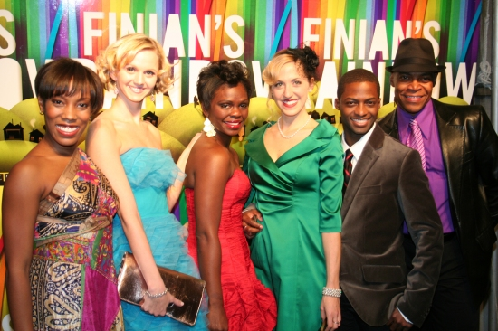 Tanya Birl, Meggie Cansler, Monical Patton, Leslie Donna Flesner, Tyrick Wiltez Jones and Devin Richards at FINIAN'S RAINBOW Celebrates Opening Night on Broadway - After Party!