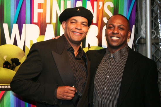 Guy Davis and James Stovall at FINIAN'S RAINBOW Celebrates Opening Night on Broadway - After Party!