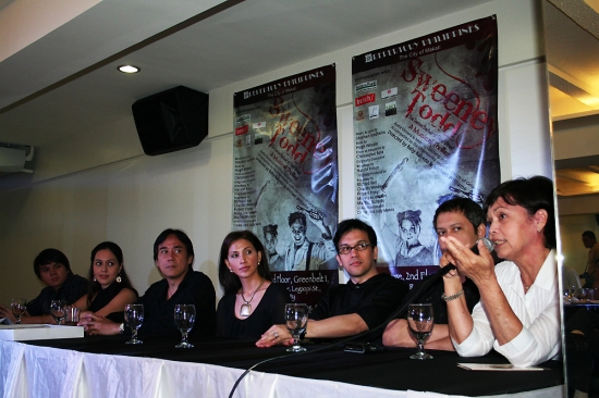Marvin Ong, Lena McKenzie, Menchu Lauchengco-Yulo, Audie Gemora, Michael Williams (co-director) and Joy Virata (Repertory Philippines Associate Artistic Director)