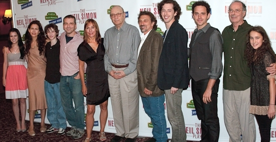 Alexandra Socha, Jessica Hecht, Noah Robbins, David Cromer, Laurie Metcalf, Neil Simon, Dennis Boutsikaris, Josh Grisetti, Santino Fontana, Allan Miller, and Gracie Bea Lawrence at Photo Spotlight: THE NEIL SIMON PLAYS Close on Broadway November 1st
