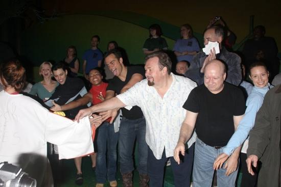 Rashidra Scott, Cheyenne Jackson, David Schramm, Kevin Ligon and Brian Reddy