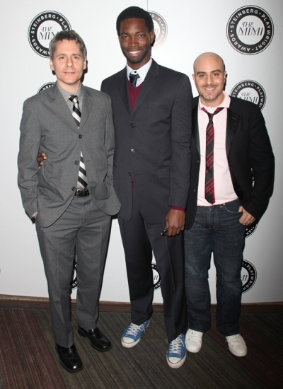 Bruce Norris, Tarell Alvin McCraney and David Adjmi at The Harold and Mimi Steinberg Charitable Trust's 2nd Annual 'Mimi' Awards Ceremony