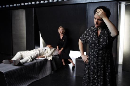 Rafael De Mussa, Ellen Crawford and Wendy Allegaert at THE MISUNDERSTANDING At The Flea