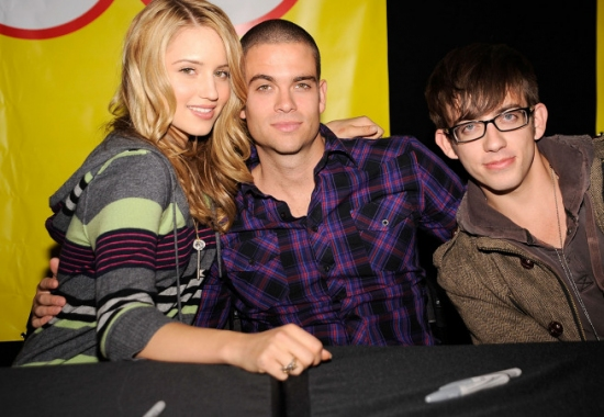 Dianna Agron, Mark Salling and Kevin McHale Photo (2009-11-03)
