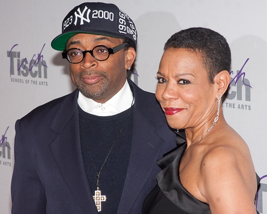 Spike Lee and Dean of the Tisch School of the Arts Mary Schmidt