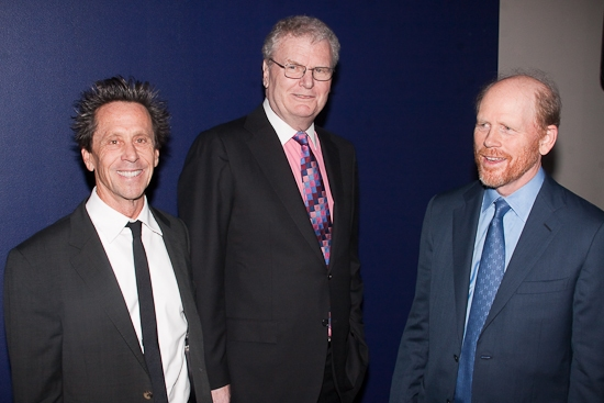 Brian Grazer, Howard Stringer, and Ron Howard