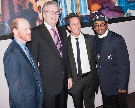 Ron Howard, Howard Stringer, Brian Grazer, and Spike Lee