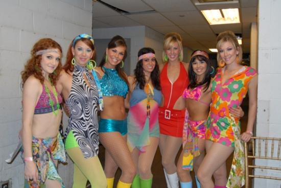The Go-Go Dancers-Heather Forte, Suzy Darling, Emily Loftiss, Jessica Diaz, Krista Saab, Cyana Cook, Abbey O'Brien