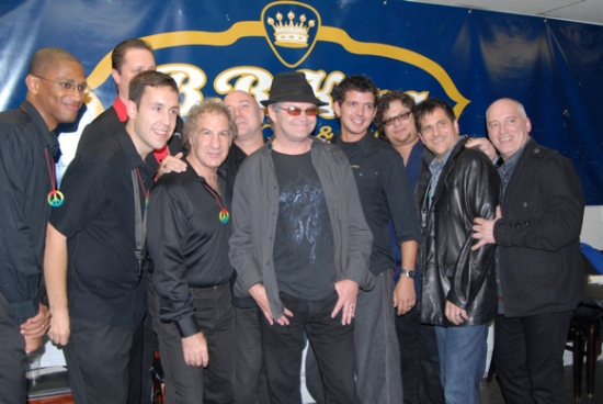 Mickey Dolenz and Donnie Kehr and tonights band-Miles Aubrey, Ted Baker, Ken Dow, Matt Garrison, Bruce Harris, Kevin Kuhn, Jay Leslie, Ethan Popp, Gary Seligson at ROCKERS ON BROADWAY - Arrivals and Backstage