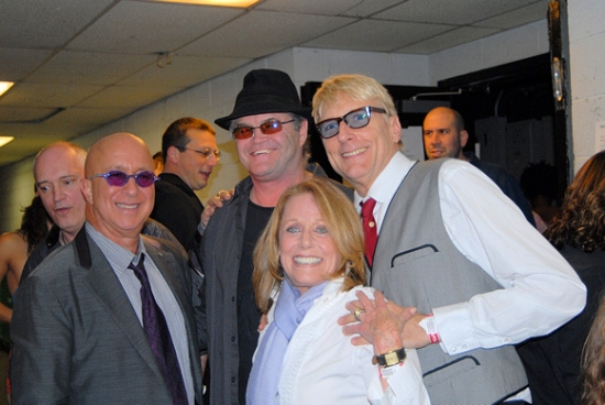 Donnie Kehr, Paul Shaffer, Micky Dolenz, Lesley Gore, and Will Lee at ROCKERS ON BROADWAY - Arrivals and Backstage