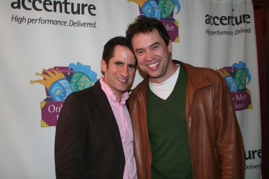 Seth Rudetsky and James Wesley at The 'Only Make Believe' Benefit Gala at Broadway's Shubert Theatre