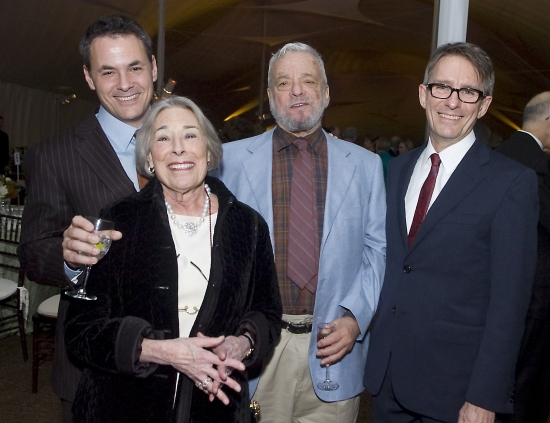 "Adam Guettel, Mary Rodgers Guettel, Stephen Sondheim, Mark Lamos,  at Westport Country Playhouse Gala ""An Enchanted Evening: The Music Of Richard Rodgers"""