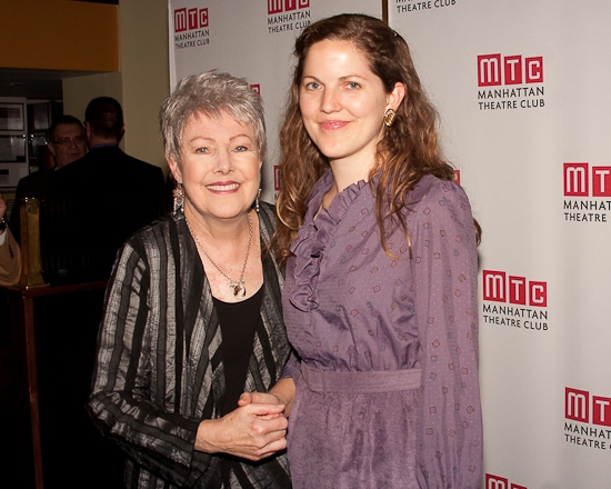 Lynn Redgrave and Annabel Clark at Lynn Redgrave's NIGHTINGALE Celebrates Opening Night at NY City Center