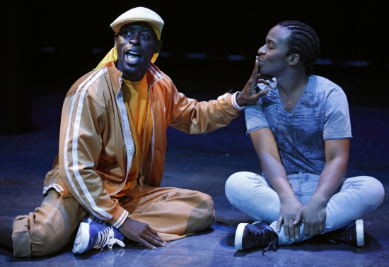 Sterling K. Brown and Andre Holland at THE BROTHER/SISTER PLAYS at The Public Theate