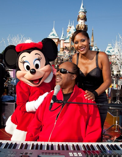 Photo Flash: Anika Noni Rose, Stevie Wonder and DWTS Pros Guest at Disneyland