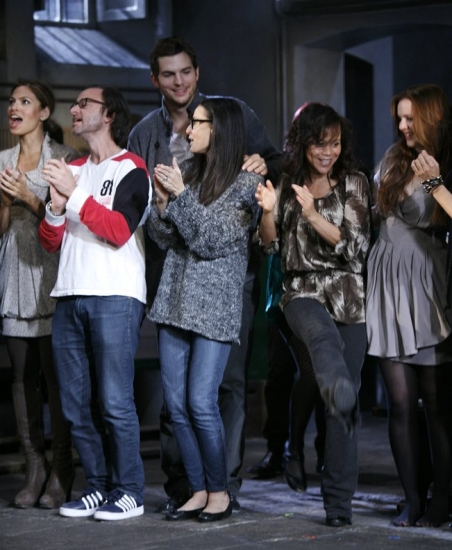 Eva Mendes, Fisher Stevens, Ashton Kutcher, Demi Moore, Rosie Perez and Amber Tamblyn
