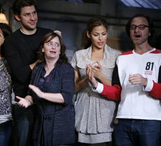 John Krasinski, Rachel Dratch, Eva Mendes and Fisher Stevens