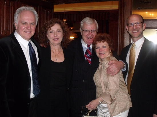P.J. Benjamin with his wife Louisa,  Bob Donahoe, Anita Gillette and Douglas J. Cohen