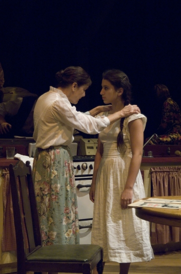 Lynne Taylor  and Elizabeth Oldak at Bay Street Theatre's THE DIARY OF ANNE FRANK