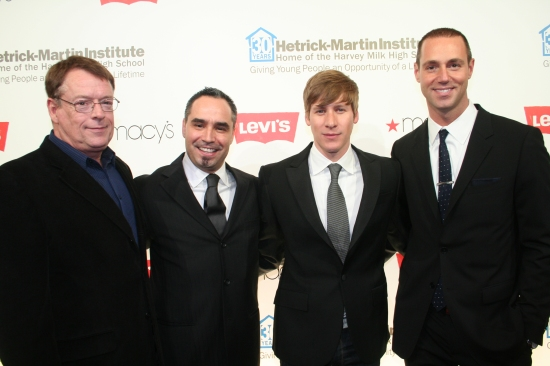 Cleve Jones, Thomas Krever, Dustin Lance Black and Rob Smith