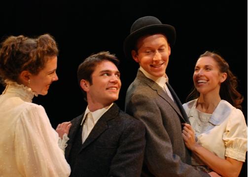 Catherine Gowl (Sylvia), Jordan McArthur (Valentine), Andrew Dahl and Aubrey Saverino