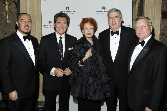 Marc Rosen, Ernie Anastos, Arlene Dahl, Marvin Hamlisch and Mark Ackermann
