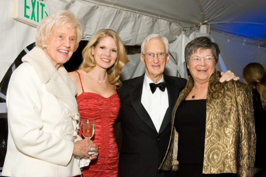 Kelli O'Hara with Gala Honorees Angela and Scott Jaggar and Landmark's Honorary Chair, Lillian McCormick