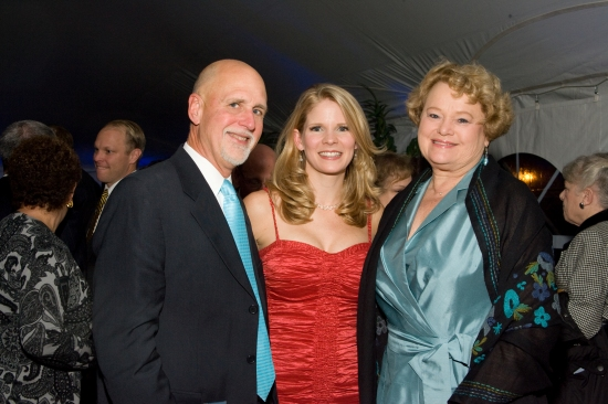 Kelli O'Hara with WFUV's John Platt and wife, Sheila