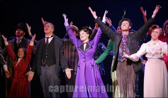 Bailey Grey, Karl Kenzler, Ashley Brown, Gavin Lee and Megean Osterhaus at MARY POPPINS Ahmanson Theatre Opening