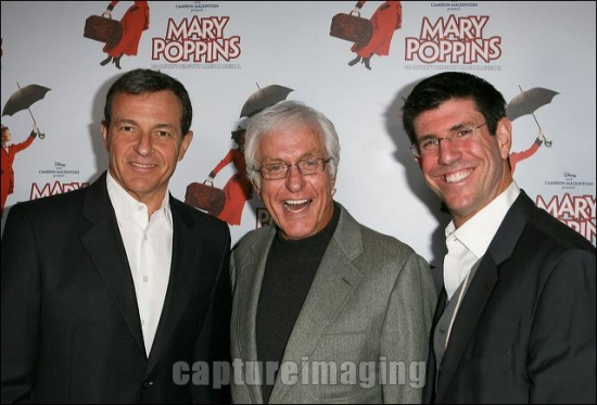 Robert A. Iger, Dick Van Dyke and Rich Ross