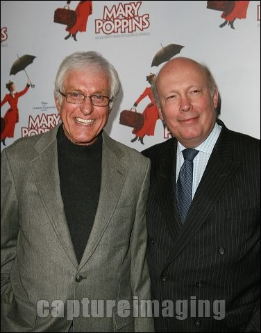Dick Van Dyke and Julian Fellowes at MARY POPPINS Ahmanson Theatre Opening