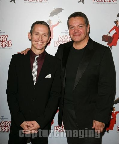 George Stiles and Anthony Drewe at MARY POPPINS Ahmanson Theatre Opening