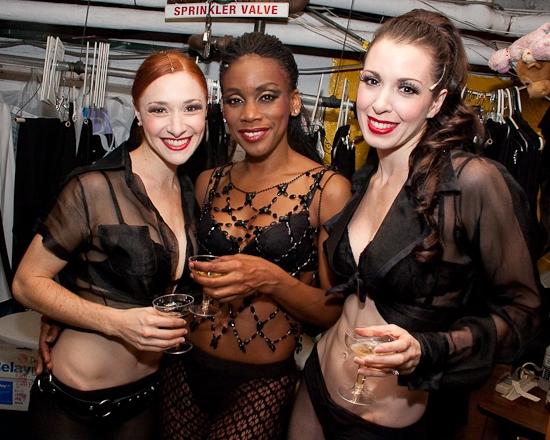Nili Bassman, Nicole Bridgewater and Melissa Rae Mahon at CHICAGO 'Razzle Dazzles' at 13!