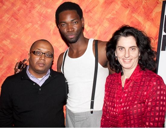 Director Robert O'Hara, playwright Tarell Alvin McCraney and director Tina Landau