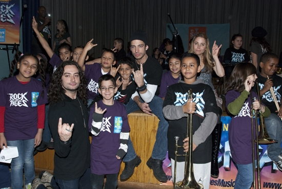 Photos: ROCK OF AGES and VH1 Save The Music Visit PS/IS 111