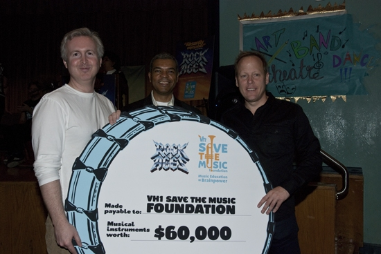 Carl Levin, Paul Cothran - Executive Director VH1 Save the Music Foundation, and Matt Weaver