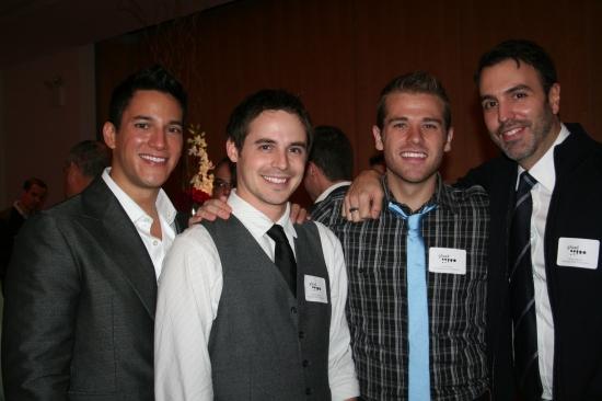 Nicholas Rodriguez, Brett Claywell, Scott Evans and Ron Carlivati