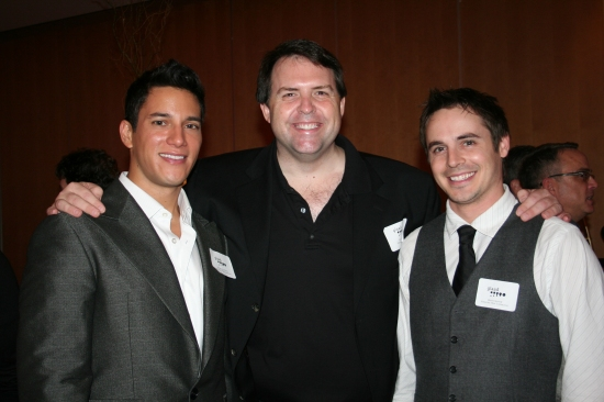 Nicholas Rodriguez, Hugh Hysell (HHC Marketing) and Brett Claywell at The 8th Annual GLAAD OUTAuction NYC
