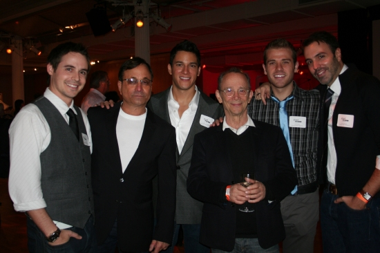 Brett Claywell, Ross Bleckner, Nicholas Rodriguez, Joel Grey, Scott Evans and Ron Carlivati