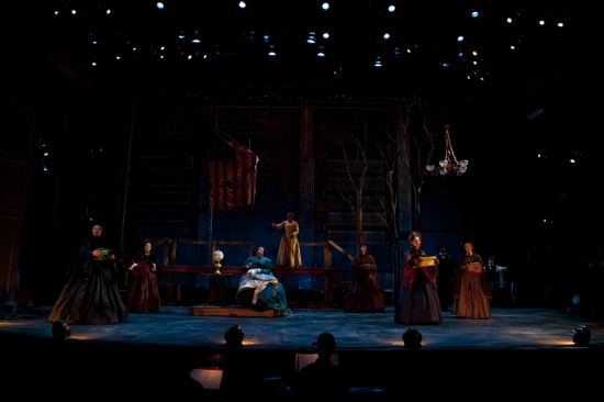 Karen MacDonald, Rebekah Vega Romero, Jacqui Parker, Uzo Aduba, Alicia Lyn Hunt, Molly Schreiber, and Sarajane Mullins at Huntington's A CIVIL WAR CHRISTMAS: AN AMERICAN MUSICAL...