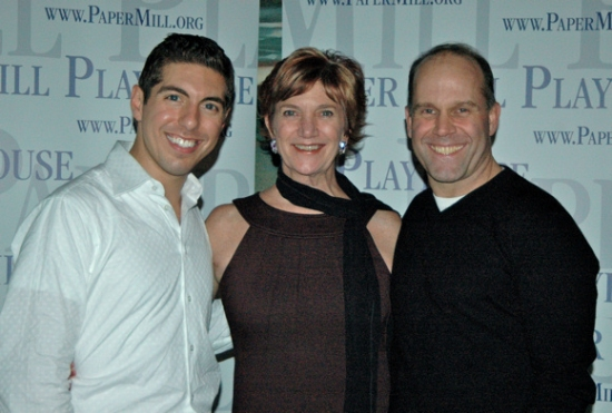 Cameron Henderson, Patti Colombo ((Choreography)  and Rob Roberts at Opening Night for ON THE TOWN at Paper Mill Playhouse