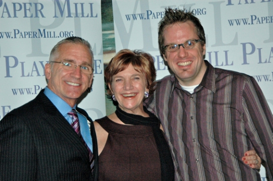 Mark S. Hoebee, Patti Colombo, Bill Berry at Opening Night for ON THE TOWN at Paper Mill Playhouse