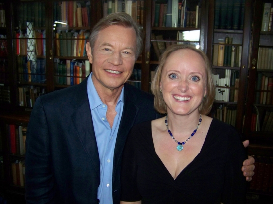 Michael York and Charles Dickens Great Great Grand Daughter Lucinda Dickens Hawksley Photo