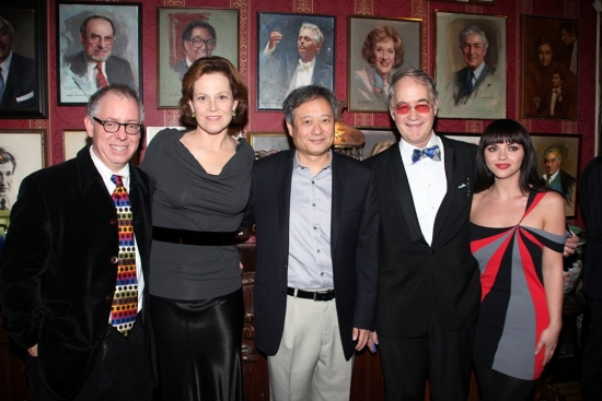 James Schamus, Sigourney Weaver, Ang Lee, O. Aldon James Jr. and Christina Ricci at The National Arts Club's Medal of Honor for Film Ceremony