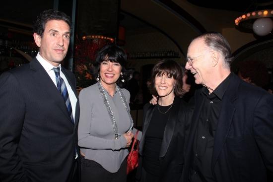 Amanpour, Nora Ephron and Nicholas Pileggi