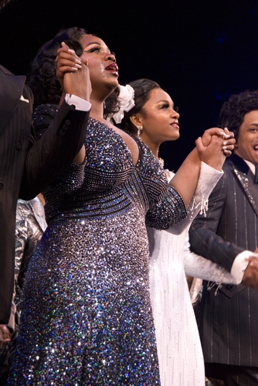 Moya Angela at Opening Night of DREAMGIRLS at the Apollo Curtain Call