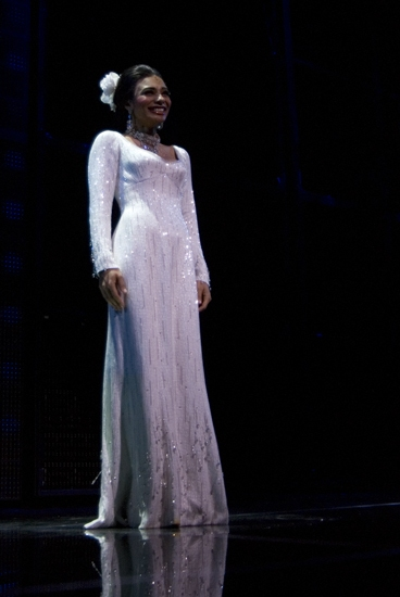 Michelle Morris at Opening Night of DREAMGIRLS at the Apollo Curtain Call