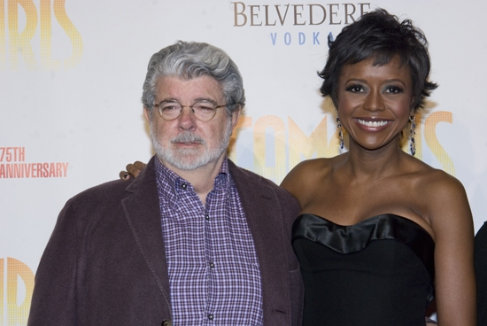 George Lucas and Mellody Hobson at Opening Night of DREAMGIRLS at the Apollo Red Carpet